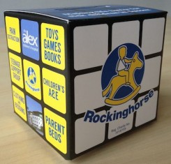 Rubik's Cube Charity Box